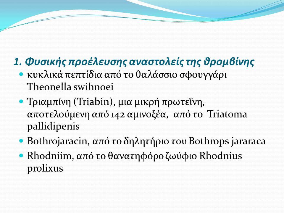1. Φυσικής προέλευσης αναστολείς της θρομβίνης