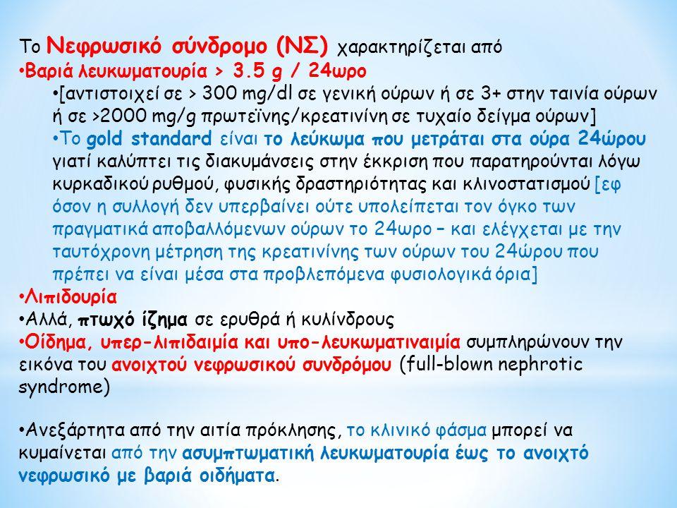 Το Νεφρωσικό σύνδρομο (ΝΣ) χαρακτηρίζεται από