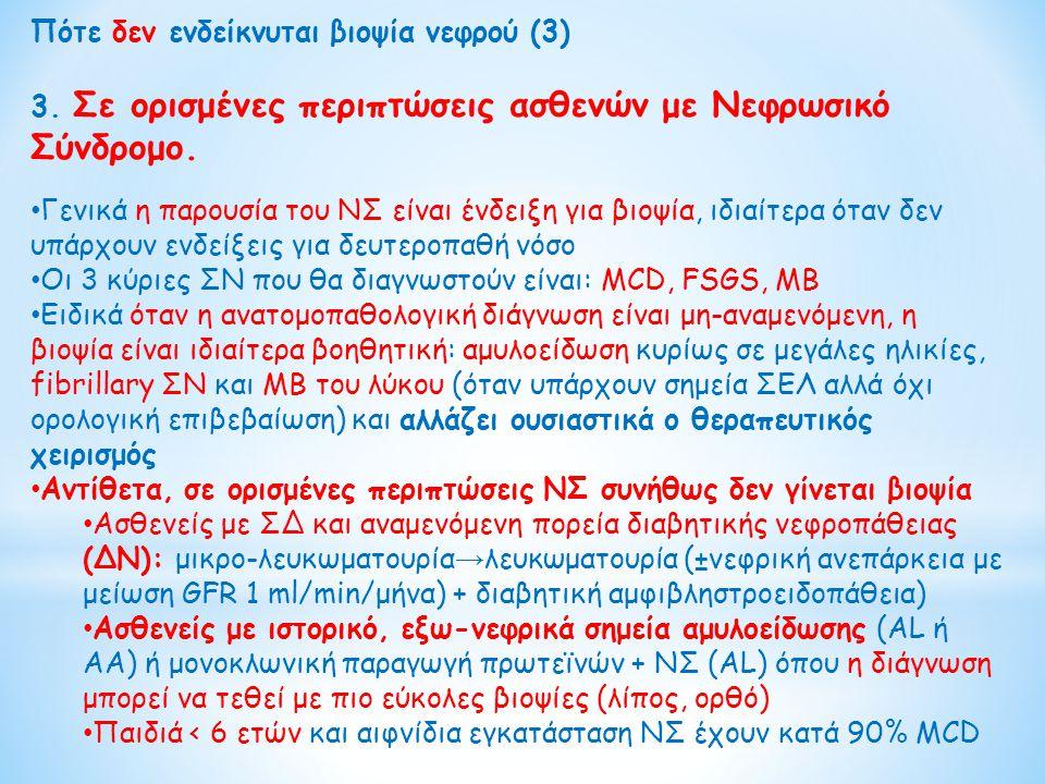 Πότε δεν ενδείκνυται βιοψία νεφρού (3)