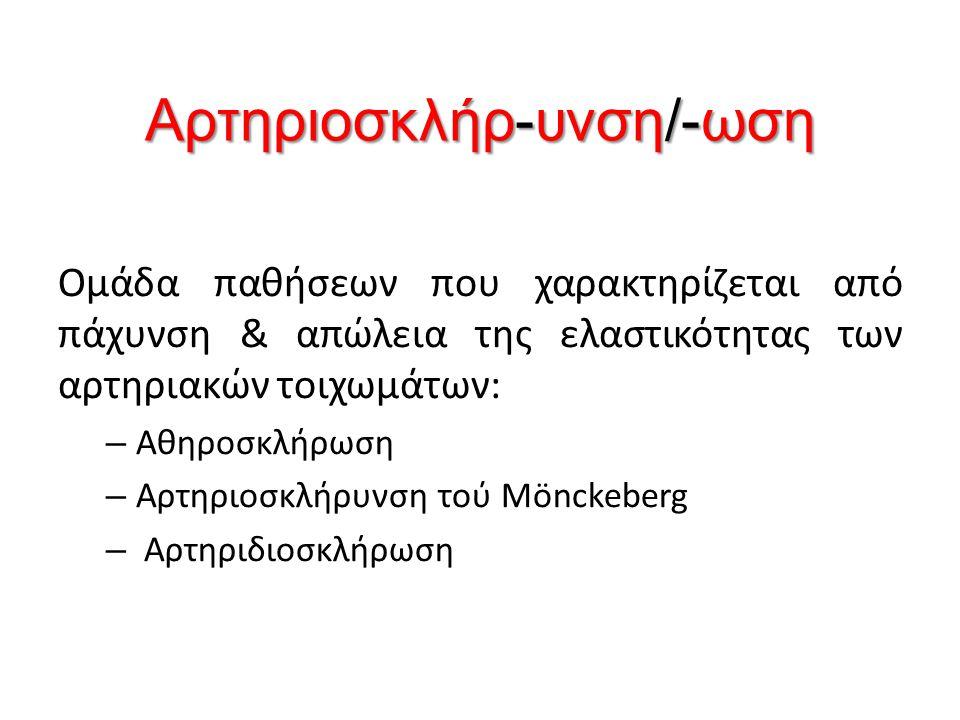 Αρτηριοσκλήρ-υνση/-ωση