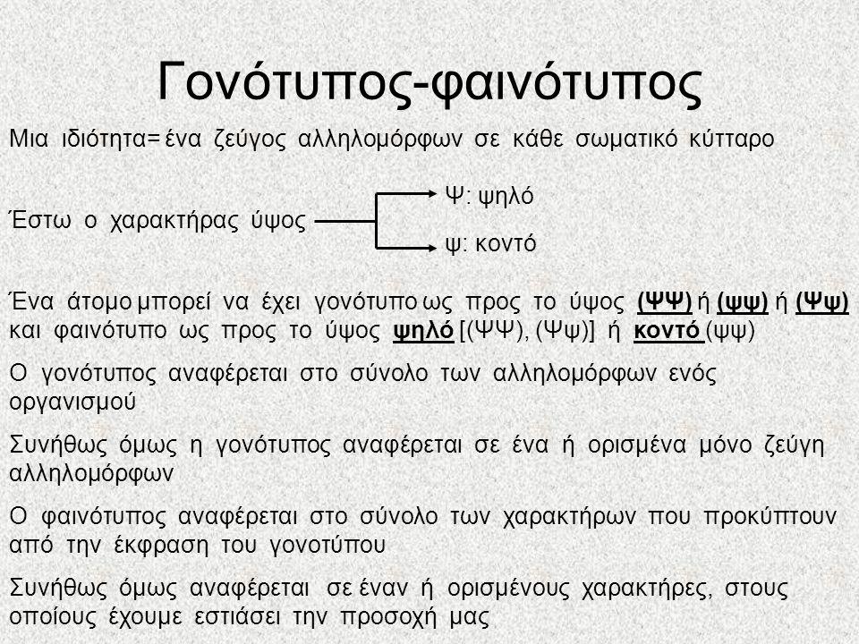 Γονότυπος-φαινότυπος