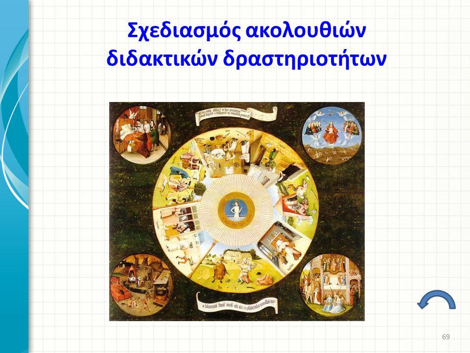 Σχεδιασμός ακολουθιών διδακτικών δραστηριοτήτων