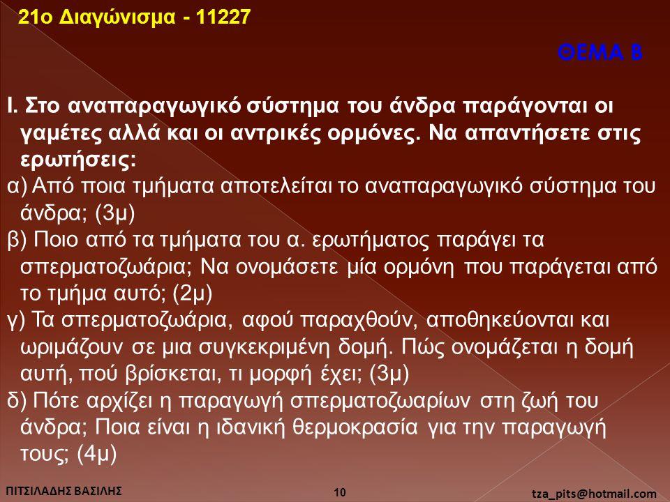 21o Διαγώνισμα - 11227 ΘΕΜΑ Β.