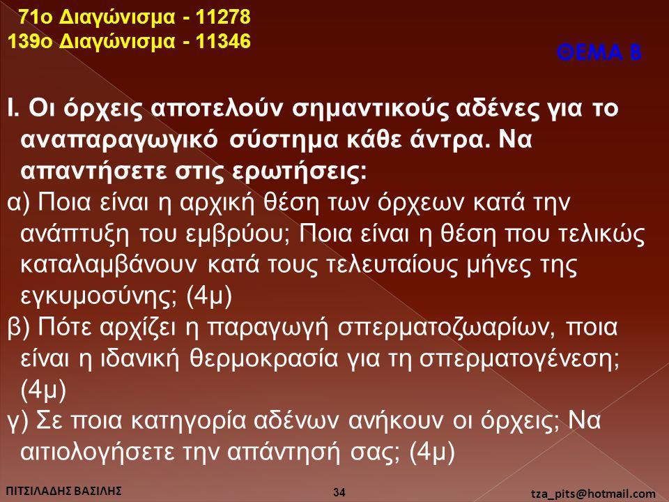 71o Διαγώνισμα - 11278 139o Διαγώνισμα - 11346. ΘΕΜΑ Β.