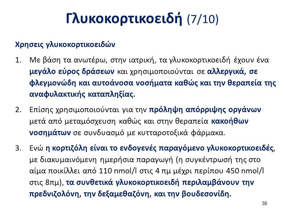 Γλυκοκορτικοειδή (8/10) Χρησεις γλυκοκορτικοειδών