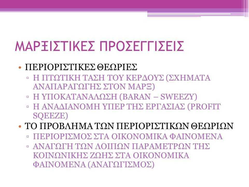 ΜΑΡΞΙΣΤΙΚΕΣ ΠΡΟΣΕΓΓΙΣΕΙΣ