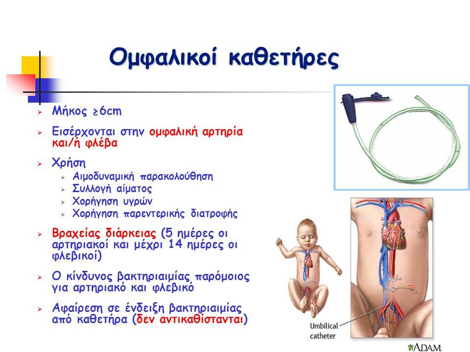 Ομφαλικοί καθετήρες Μήκος ≥6cm