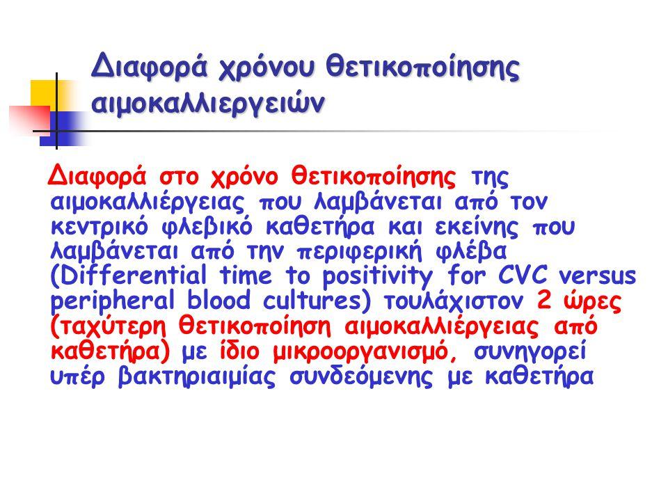 Διαφορά χρόνου θετικοποίησης αιμοκαλλιεργειών