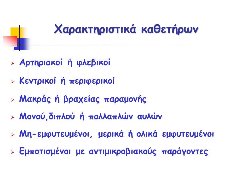 Χαρακτηριστικά καθετήρων