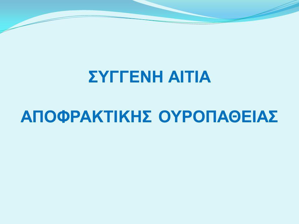 ΣΥΓΓΕΝΗ ΑΙΤΙΑ ΑΠΟΦΡΑΚΤΙΚΗΣ ΟΥΡΟΠΑΘΕΙΑΣ