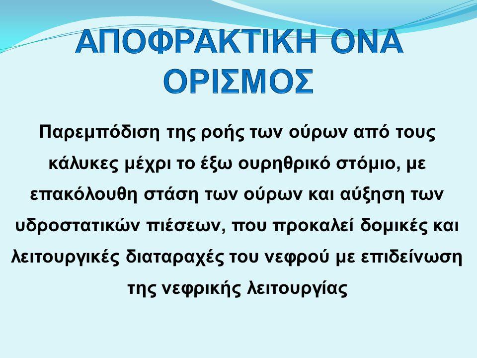 ΑΠΟΦΡΑΚΤΙΚΗ ΟΝΑ ΟΡΙΣΜΟΣ