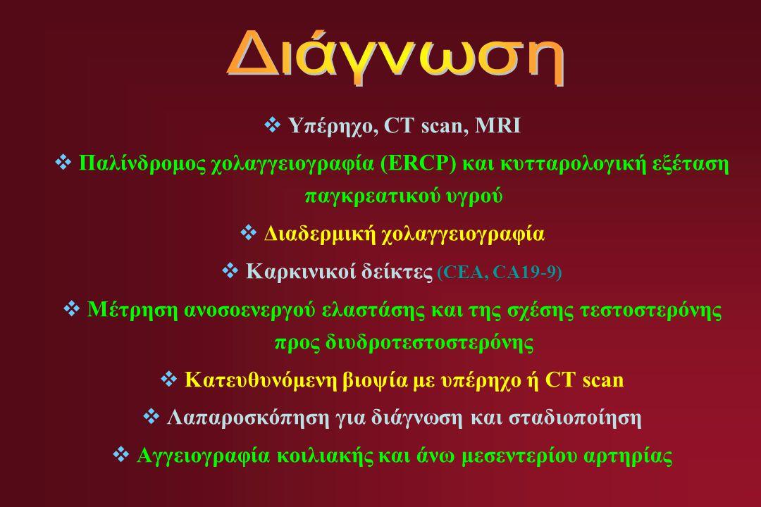 Διάγνωση Υπέρηχο, CT scan, MRI
