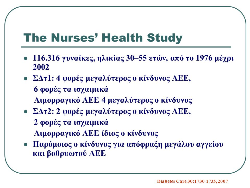 The Nurses' Health Study