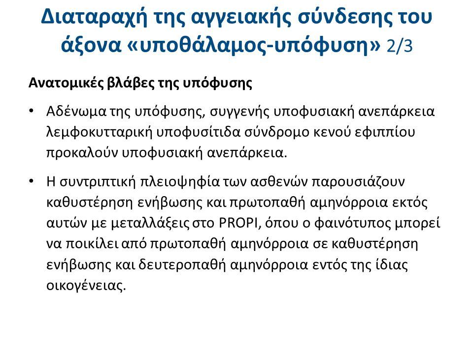 Διαταραχή της αγγειακής σύνδεσης του άξονα «υποθάλαμος-υπόφυση» 3/3