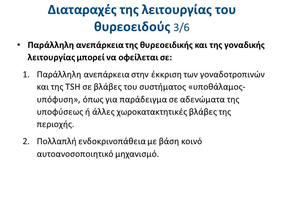 Διαταραχές της λειτουργίας του θυρεοειδούς 4/6