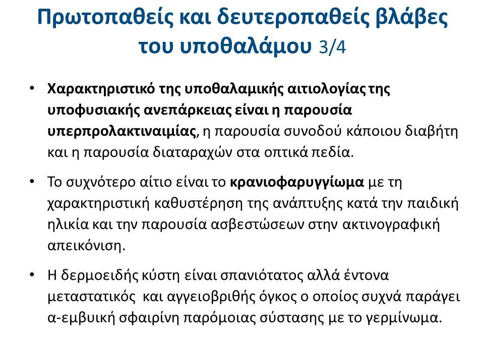 Πρωτοπαθείς και δευτεροπαθείς βλάβες του υποθαλάμου 4/4