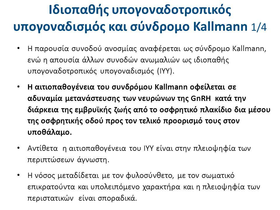 Ιδιοπαθής υπογοναδοτροπικός υπογοναδισμός και σύνδρομο Kallmann 2/4
