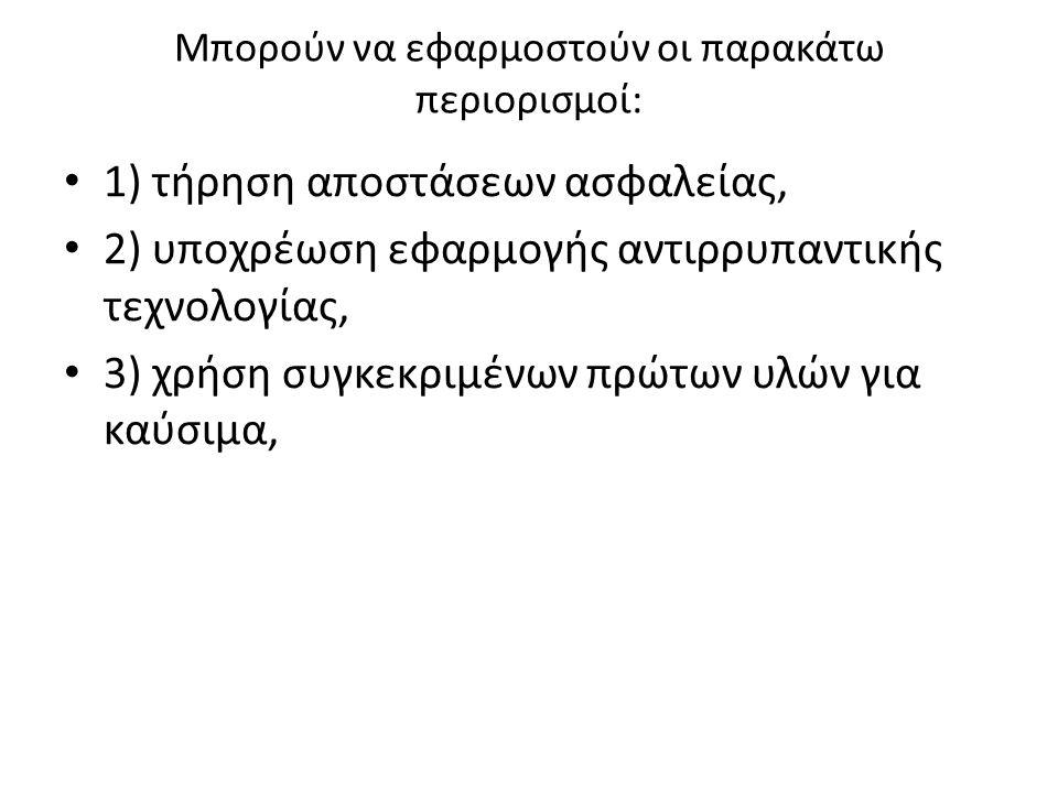 Mπορούν να εφαρμοστούν οι παρακάτω περιορισμοί:
