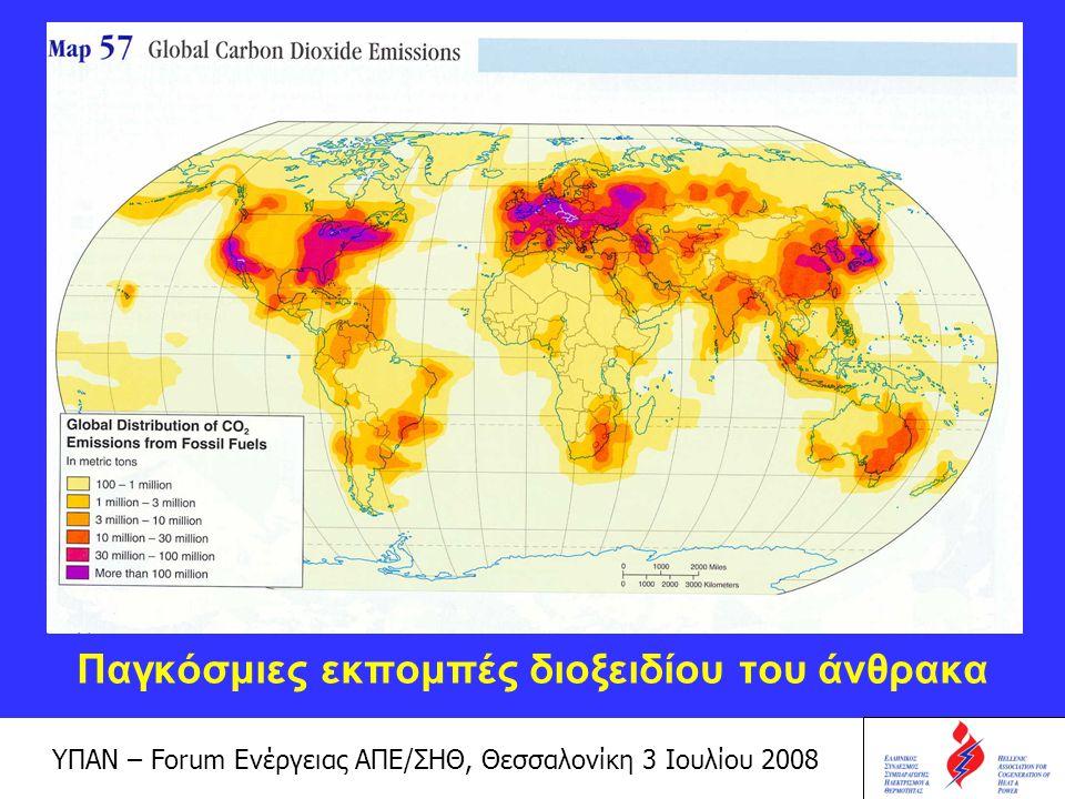 Παγκόσμιες εκπομπές διοξειδίου του άνθρακα