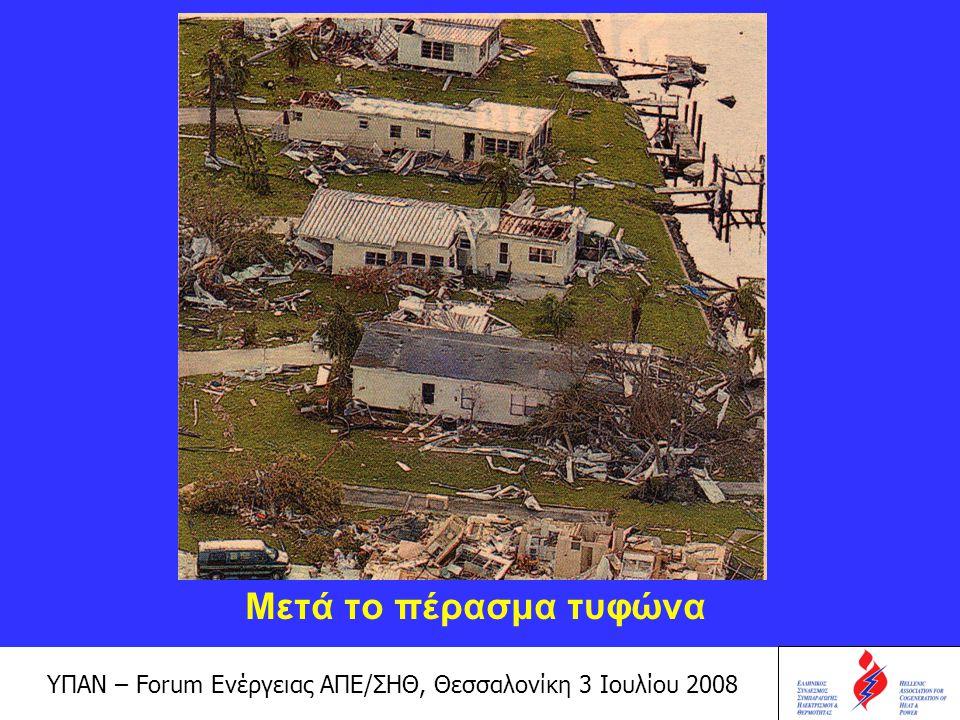 Μετά το πέρασμα τυφώνα