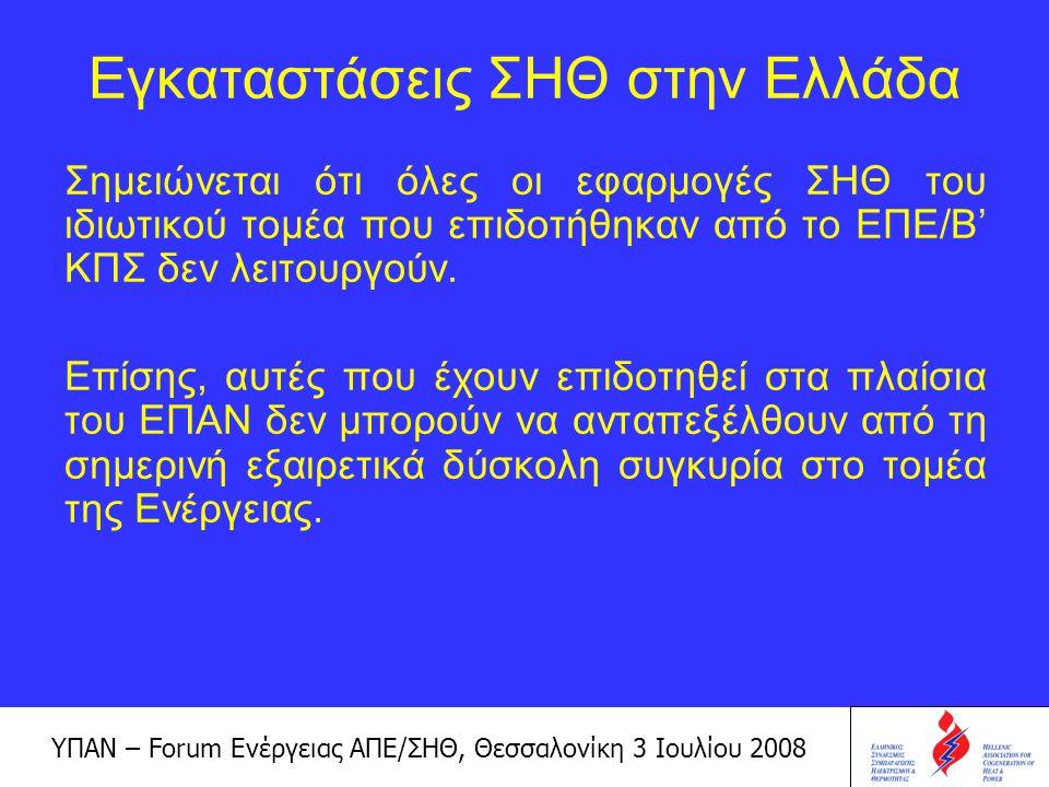 Εγκαταστάσεις ΣΗΘ στην Ελλάδα