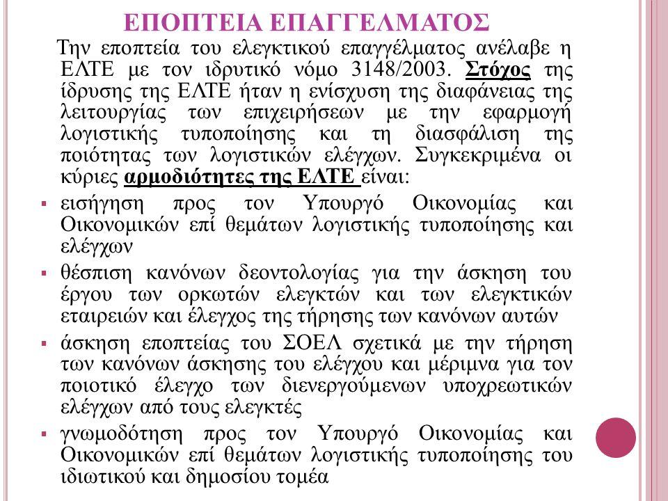 ΕΠΟΠΤΕΙΑ ΕΠΑΓΓΕΛΜΑΤΟΣ