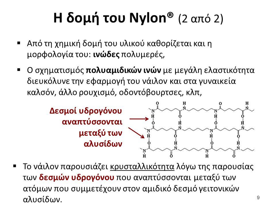 Η σύνθεση του Nylon®6,10 (1 από 2)