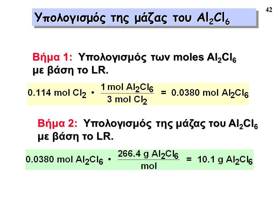 Υπολογισμός της μάζας του Al2Cl6