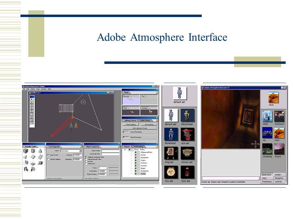 Adobe Atmosphere Interface