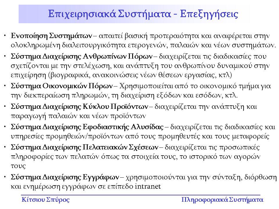 Επιχειρησιακά Συστήματα - Επεξηγήσεις