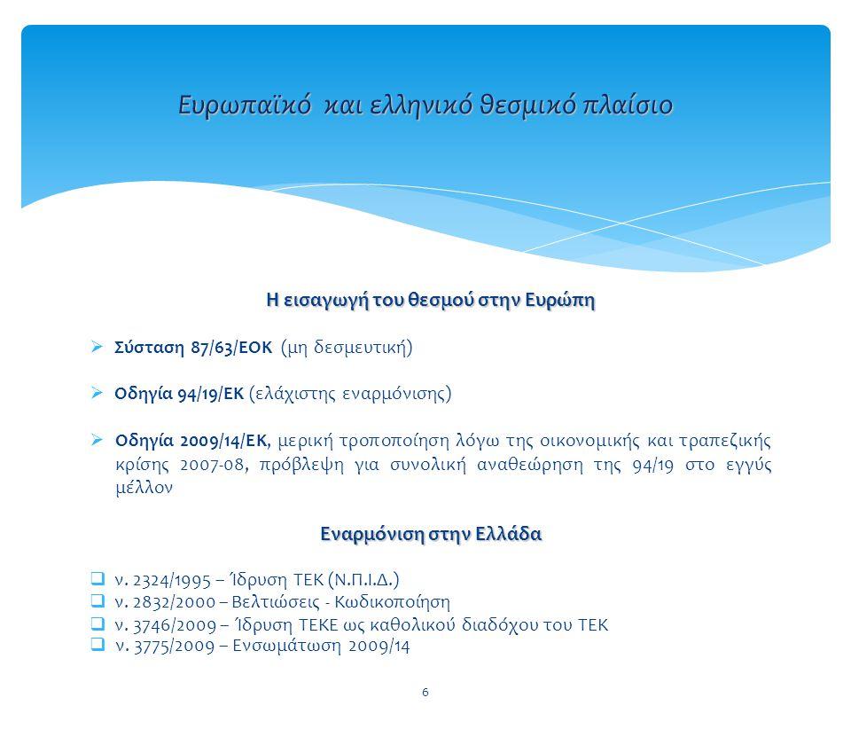 Ευρωπαϊκό και ελληνικό θεσμικό πλαίσιο