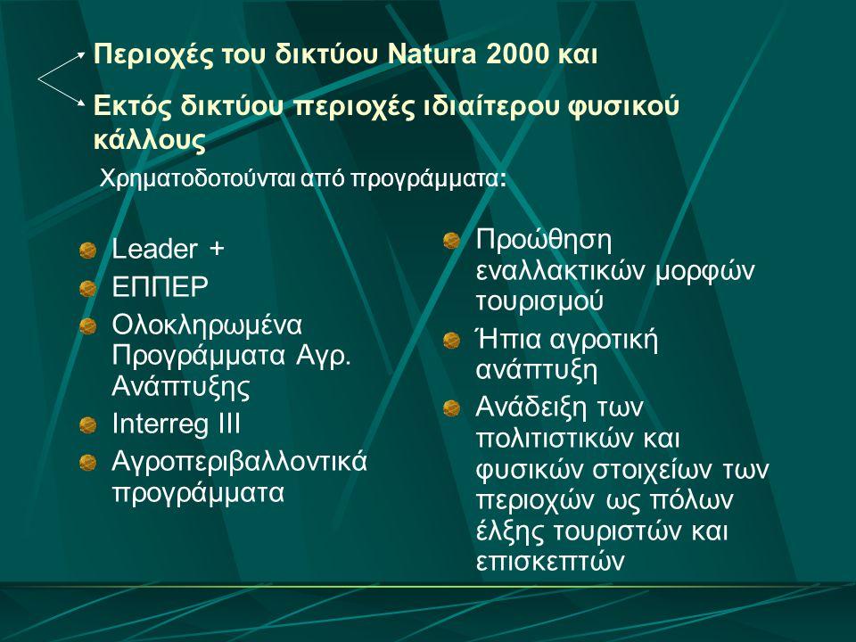 Περιοχές του δικτύου Natura 2000 και