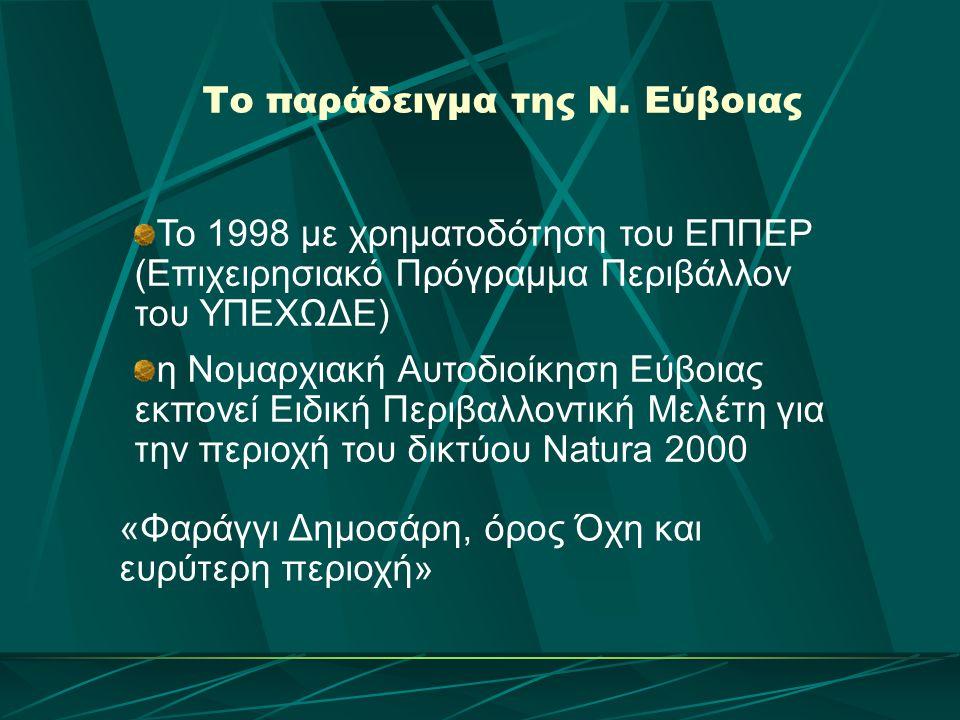 Το παράδειγμα της Ν. Εύβοιας