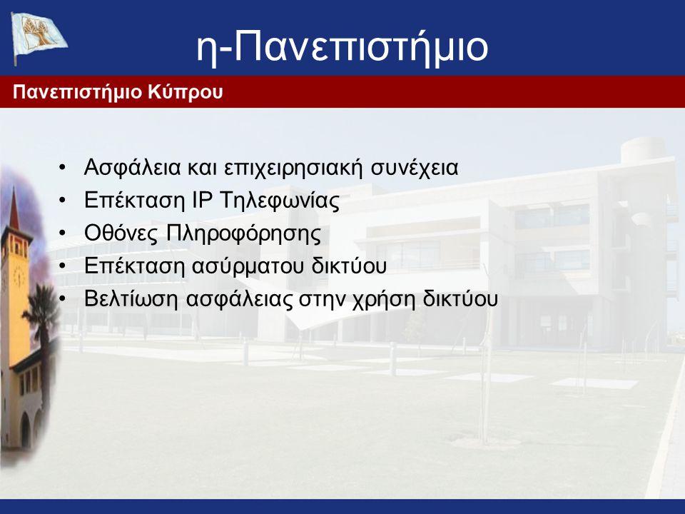 η-Πανεπιστήμιο Ασφάλεια και επιχειρησιακή συνέχεια