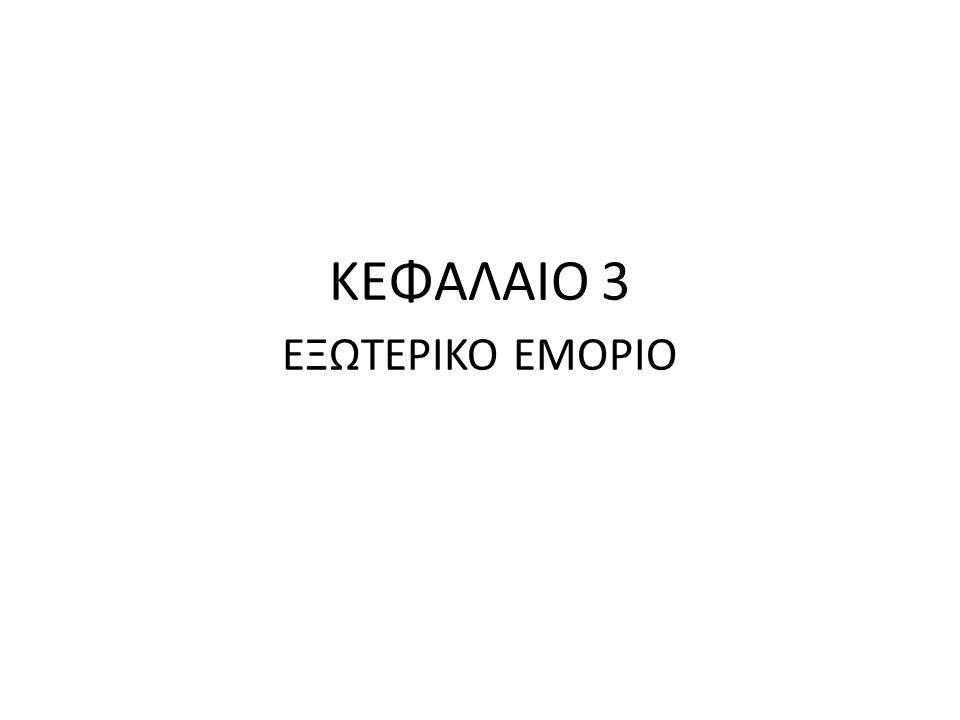 ΚΕΦΑΛΑΙΟ 3 ΕΞΩΤΕΡΙΚΟ ΕΜΟΡΙΟ