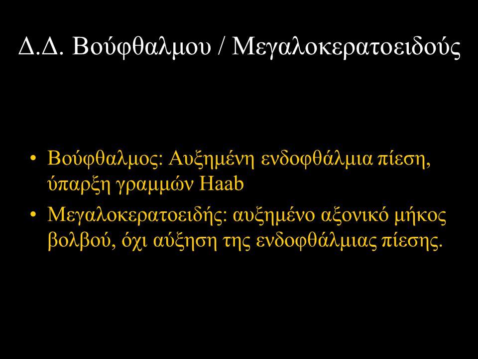 Δ.Δ. Βούφθαλμου / Μεγαλοκερατοειδούς