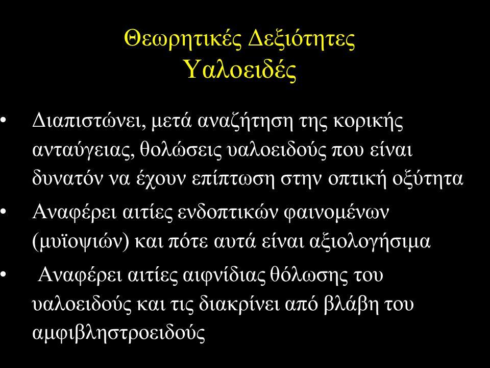 Θεωρητικές Δεξιότητες Υαλοειδές