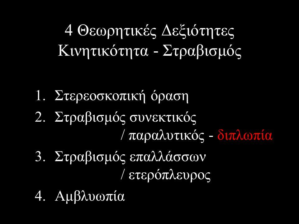 4 Θεωρητικές Δεξιότητες Κινητικότητα - Στραβισμός