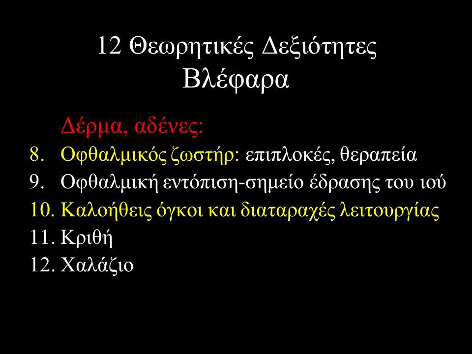 12 Θεωρητικές Δεξιότητες Βλέφαρα