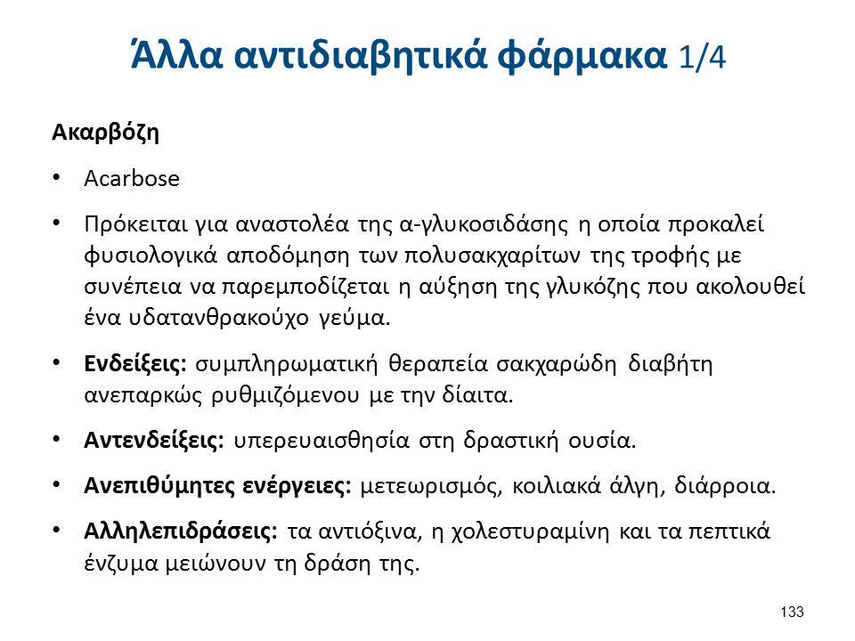 Άλλα αντιδιαβητικά φάρμακα 2/4