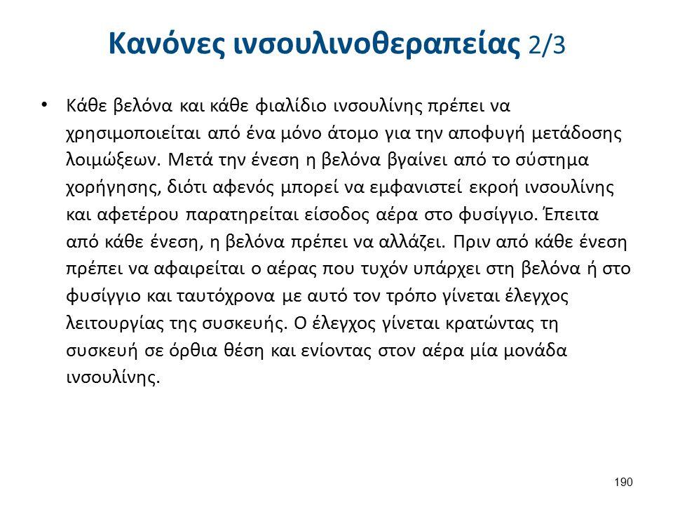 Κανόνες ινσουλινοθεραπείας 3/3