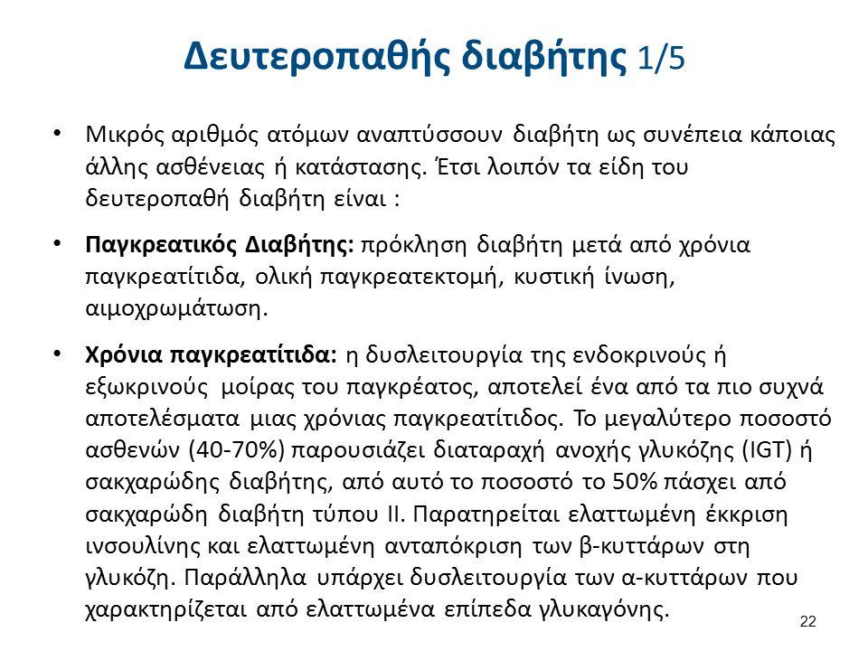 Δευτεροπαθής διαβήτης 2/5