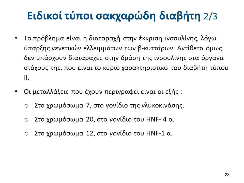 Ειδικοί τύποι σακχαρώδη διαβήτη 3/3