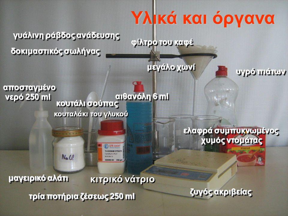 Υλικά και όργανα κιτρικό νάτριο γυάλινη ράβδος ανάδευσης