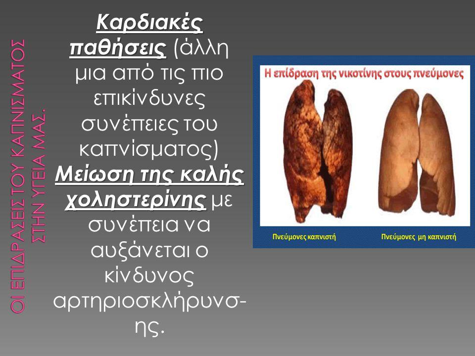 Οι επιδρασεισ του καπνισματοσ στην υγεια μασ.