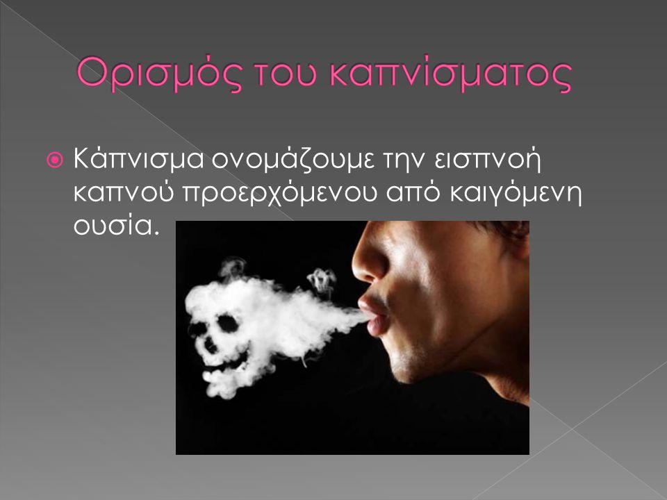 Ορισμός του καπνίσματος