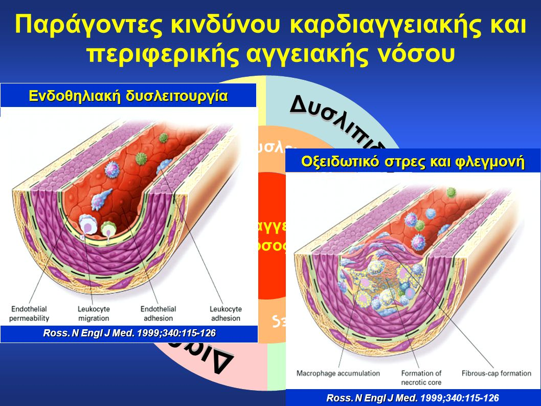 Παράγοντες κινδύνου καρδιαγγειακής και περιφερικής αγγειακής νόσου