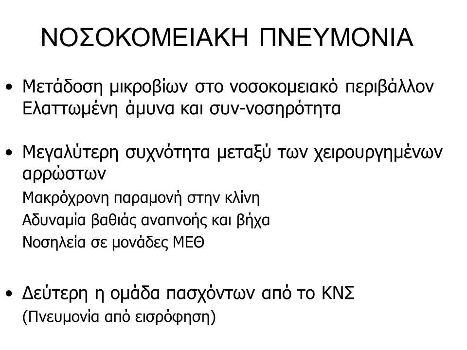 ΝΟΣΟΚΟΜΕΙΑΚΗ ΠΝΕΥΜΟΝΙΑ