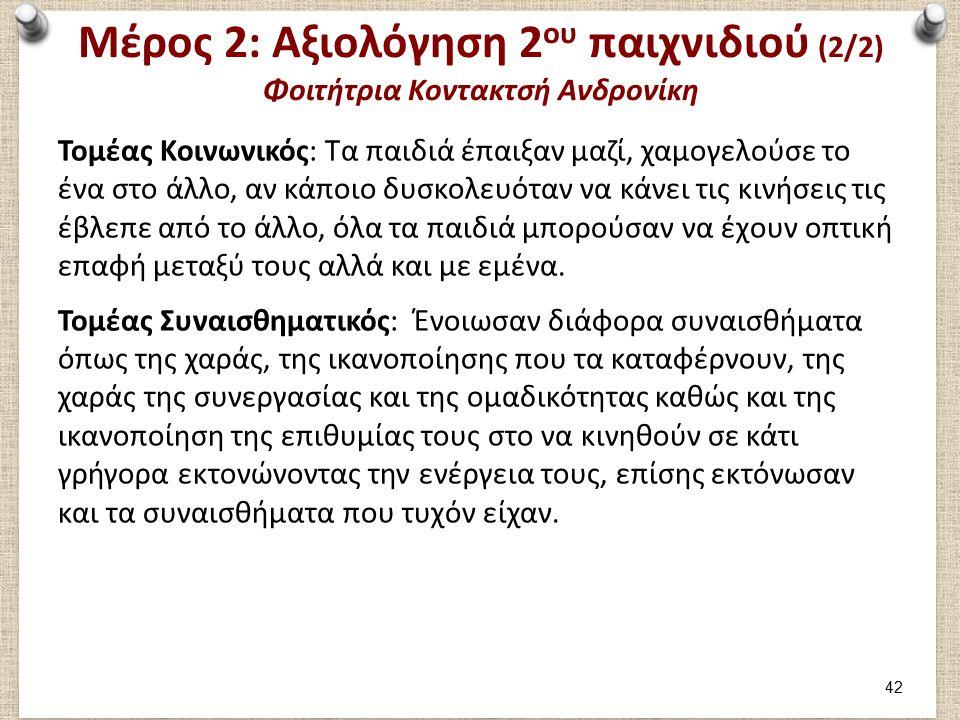 Μέρος 3: Φοιτήτρια Κοντακτσή Ανδρονίκη