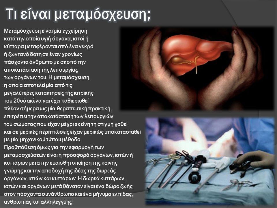 Τι είναι μεταμόσχευση;